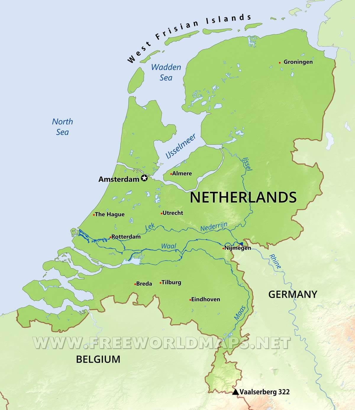 holland geography map