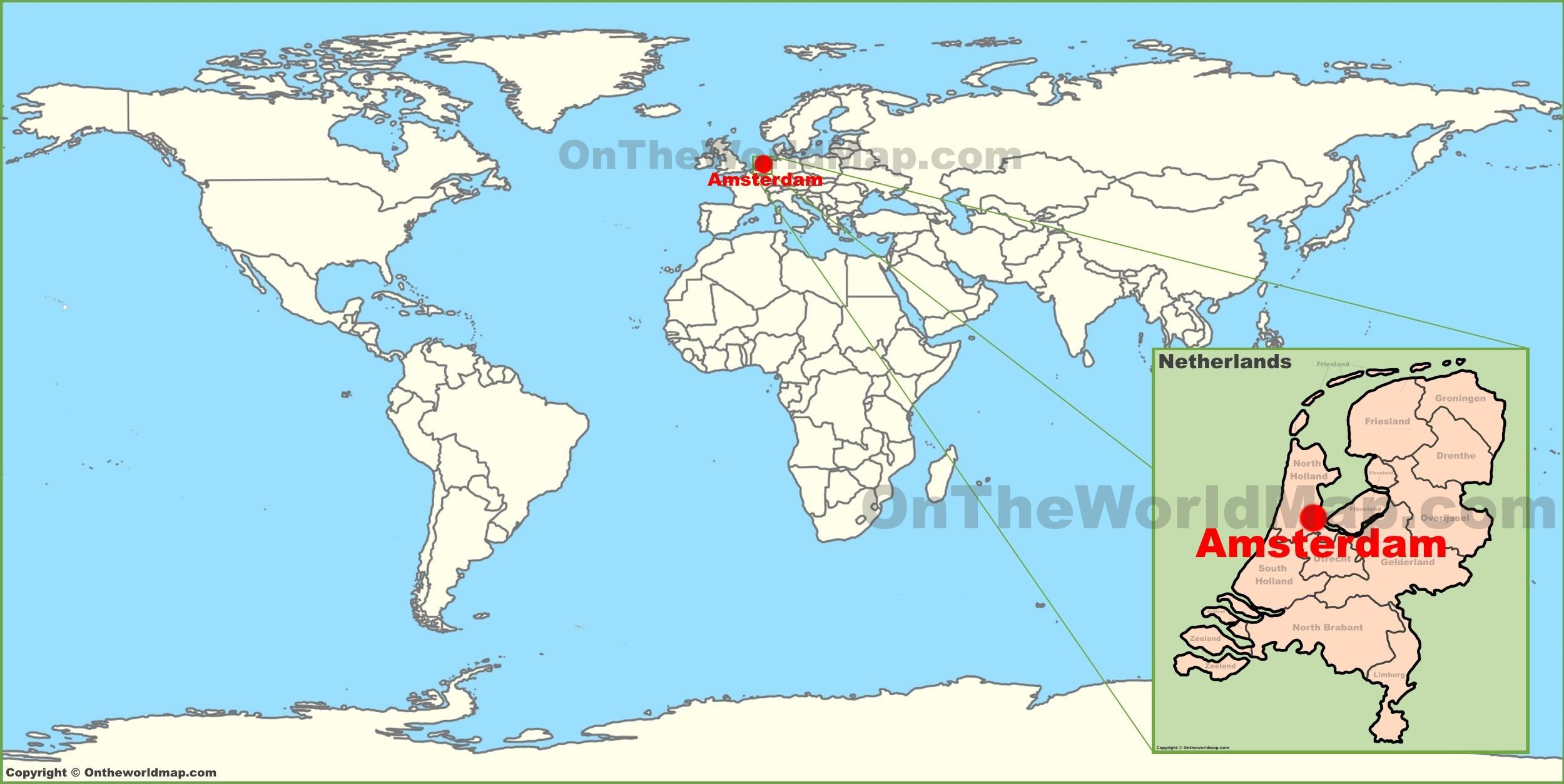 Netherlands world map - Netherlands in world map (Western ...