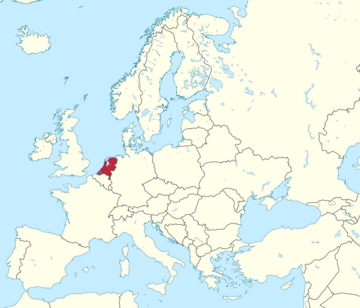 Europe Map Netherlands Netherlands Map Europe Western Europe