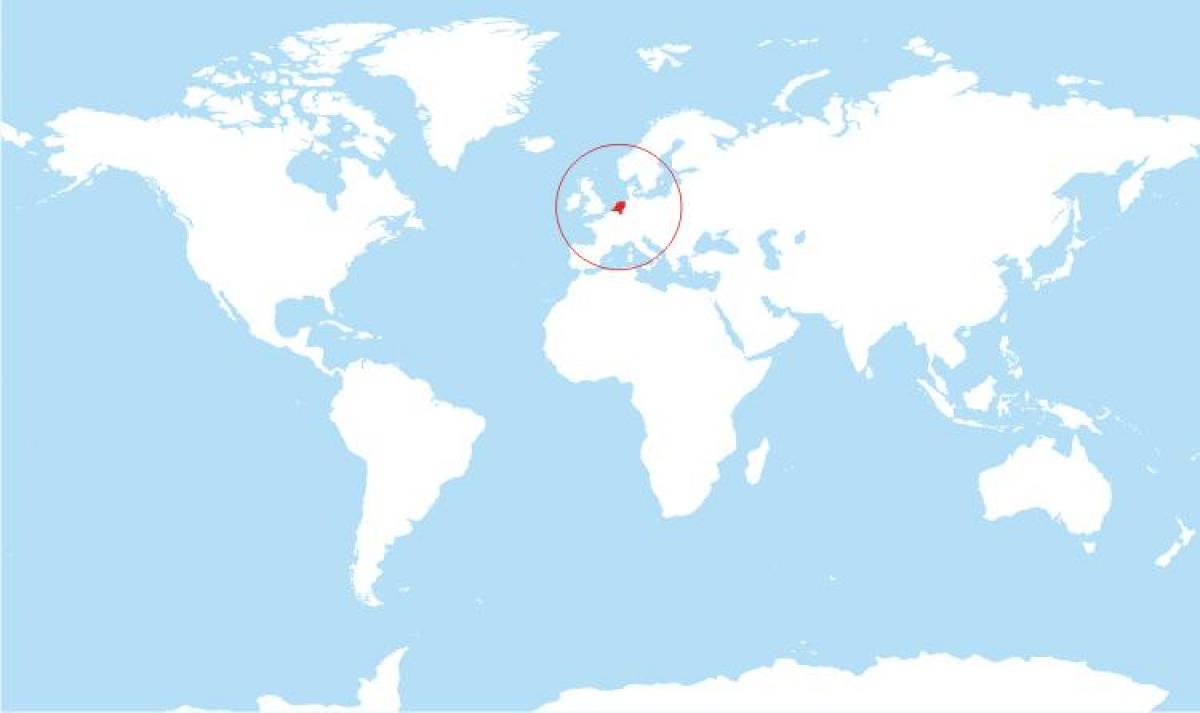 Holland world map - Holland in world map (Western Europe - Europe)