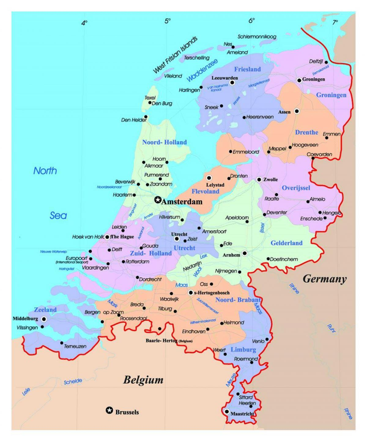 Holland on map