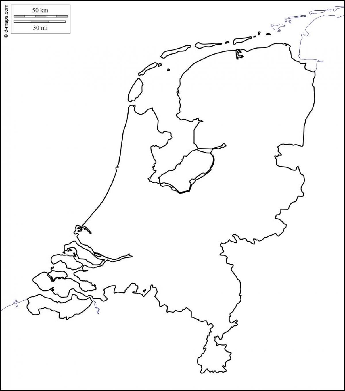 Outline Map Of Netherlands