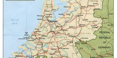 Map Of The Netherlands And Germany.Netherlands Holland Map Maps Netherlands Holland Western