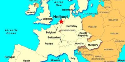 Map of Holland europe