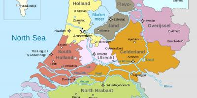 Holland on a map