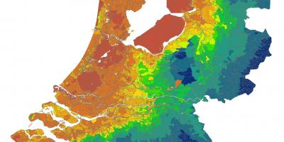 Netherlands climate map Holland climate map Western Europe Europe