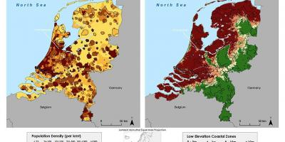 Netherlands Topographic Map.Holland Map Map Of Holland Netherlands Western Europe Europe